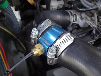 水温センサー取り付け後アップ