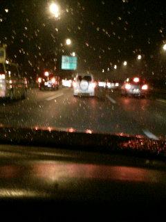 雨の大渋滞